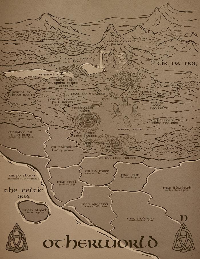 Map of Otherworld - Kimberly Ruff